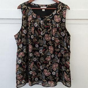 -CJ Banks- floral layered tank - 2x